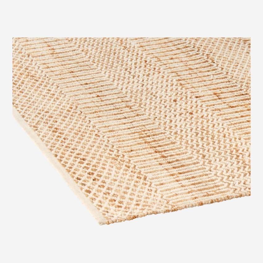 Woven carpet made of jute and cotton 170x240