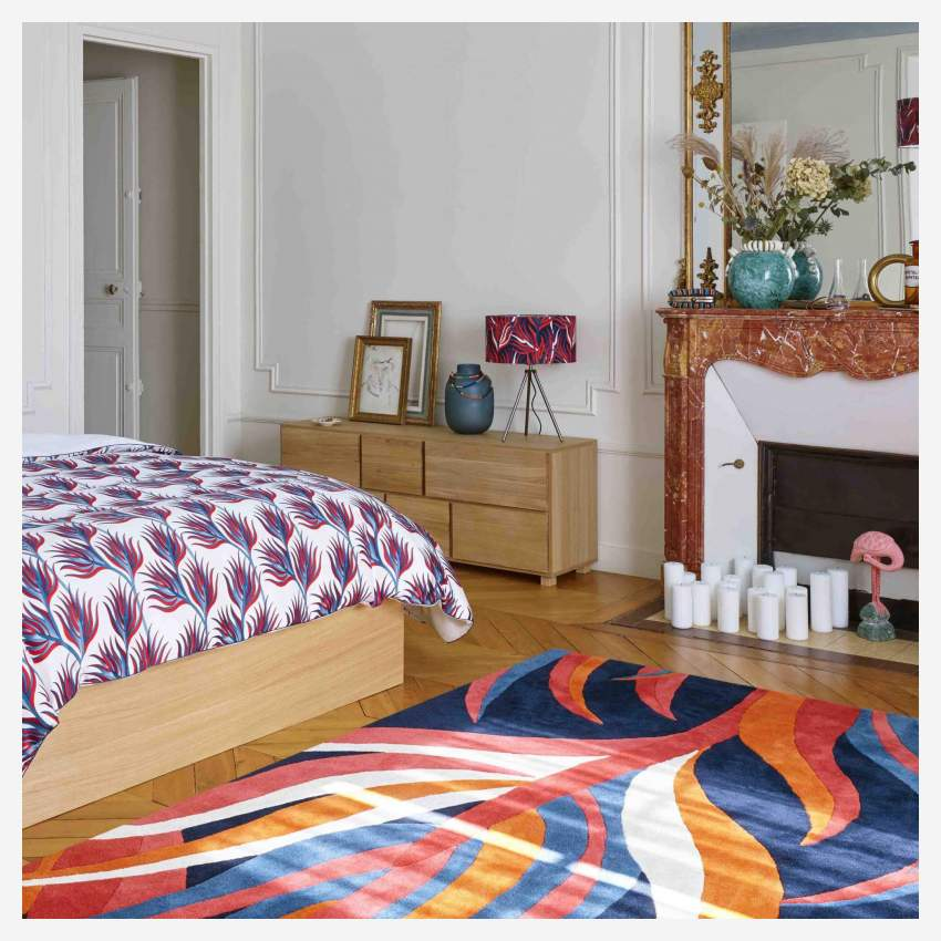 Tufted carpet main made of wool 240x170cm, with patterns