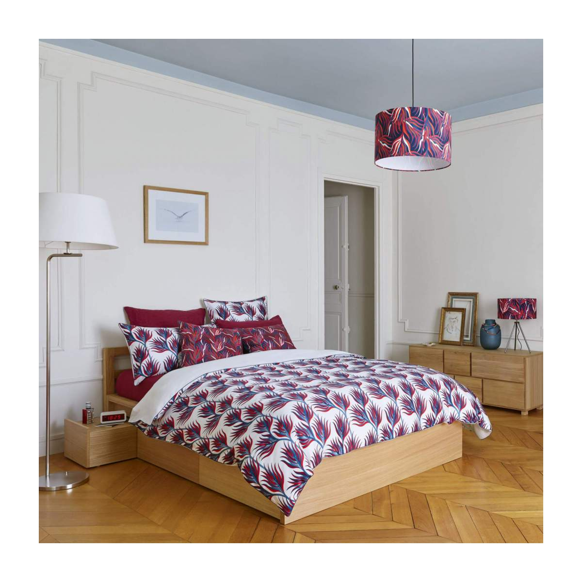 Duvet cover made of cotton 200x200cm, with patterns n°5