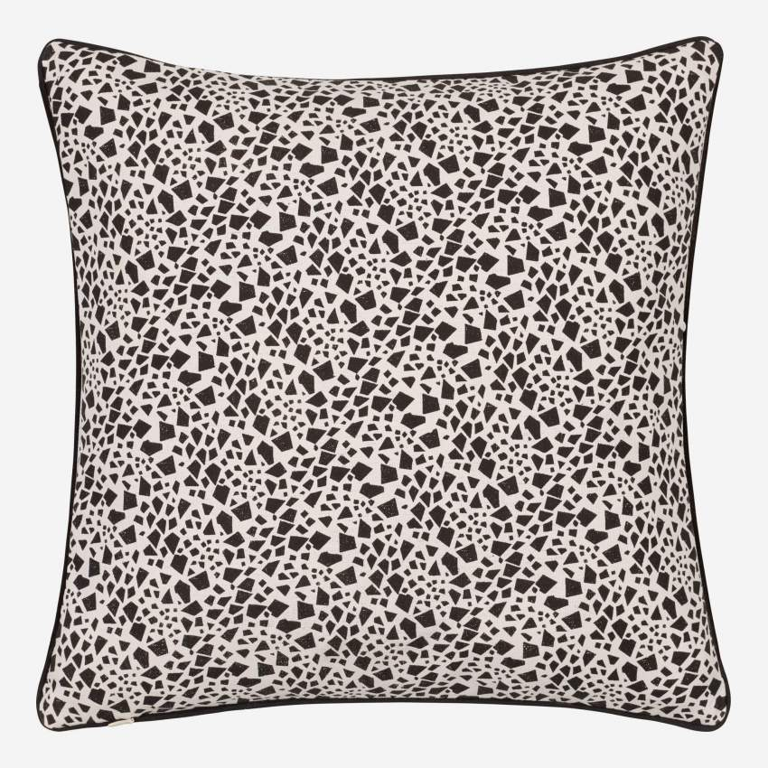 Giraffe Patterned Printed Cotton Cushion 40x40cm