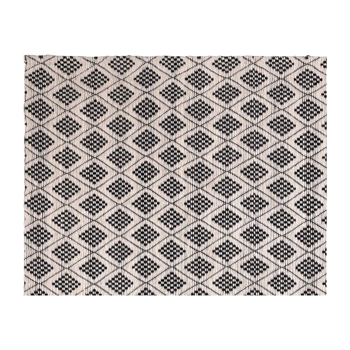 Picture of: Lana Woven Wool Rug Black And White 170x240cm Habitat