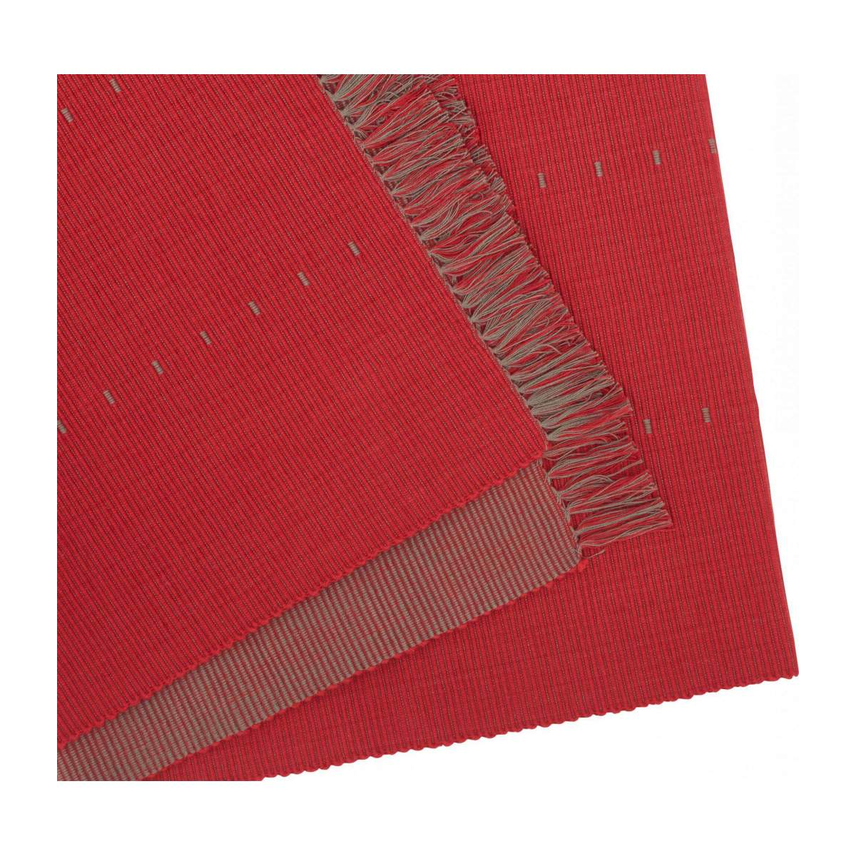 Lot de 2 travers de table en coton rouge n°2