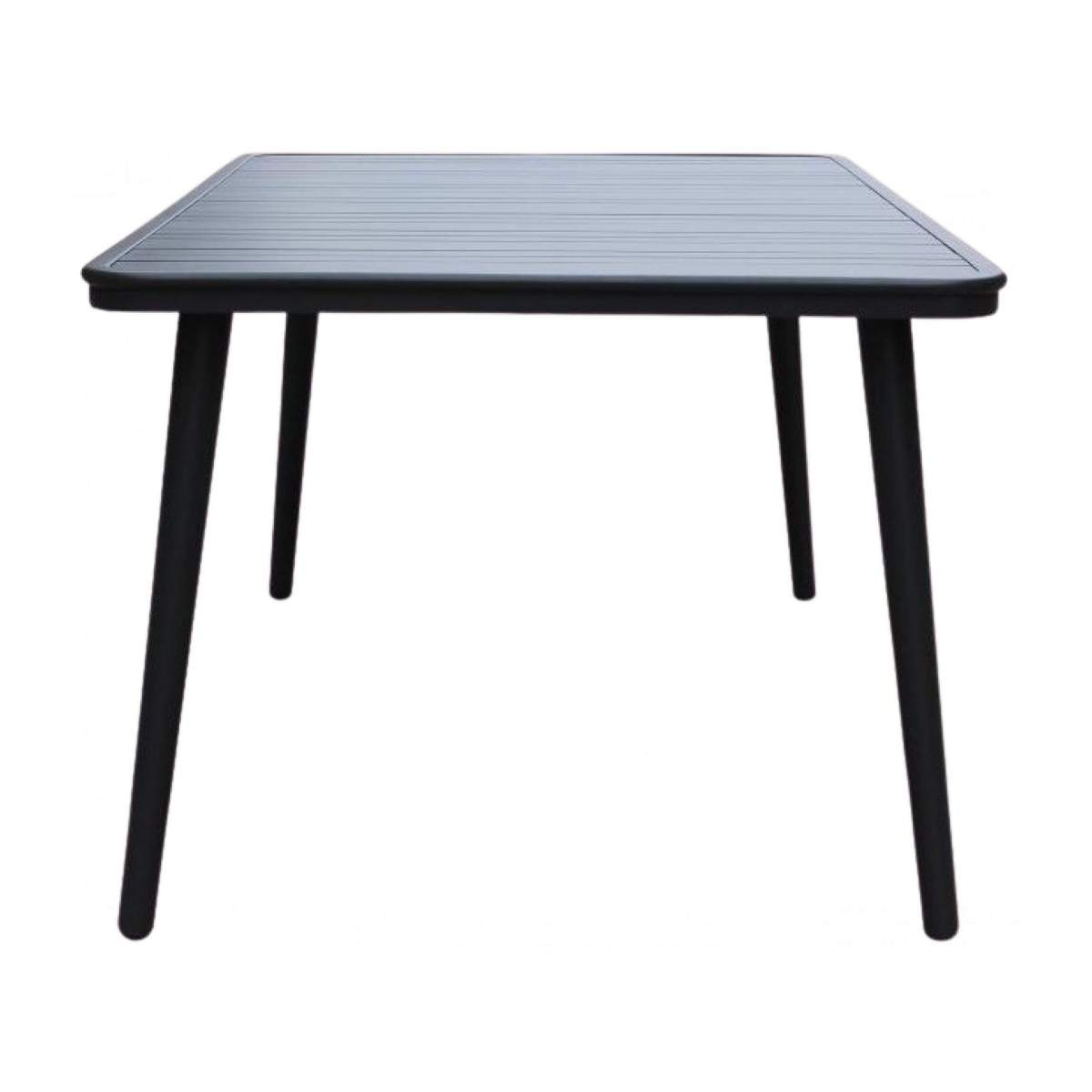 Table de jardin en aluminium - Anthracite poudré n°4
