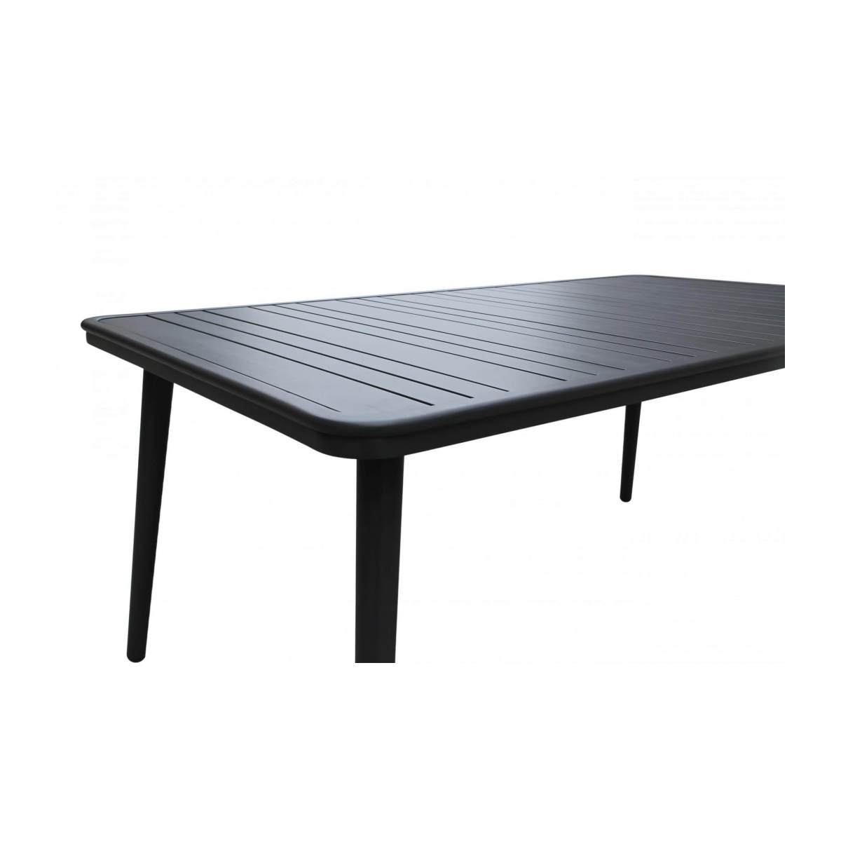 Table de jardin en aluminium - Anthracite poudré n°5