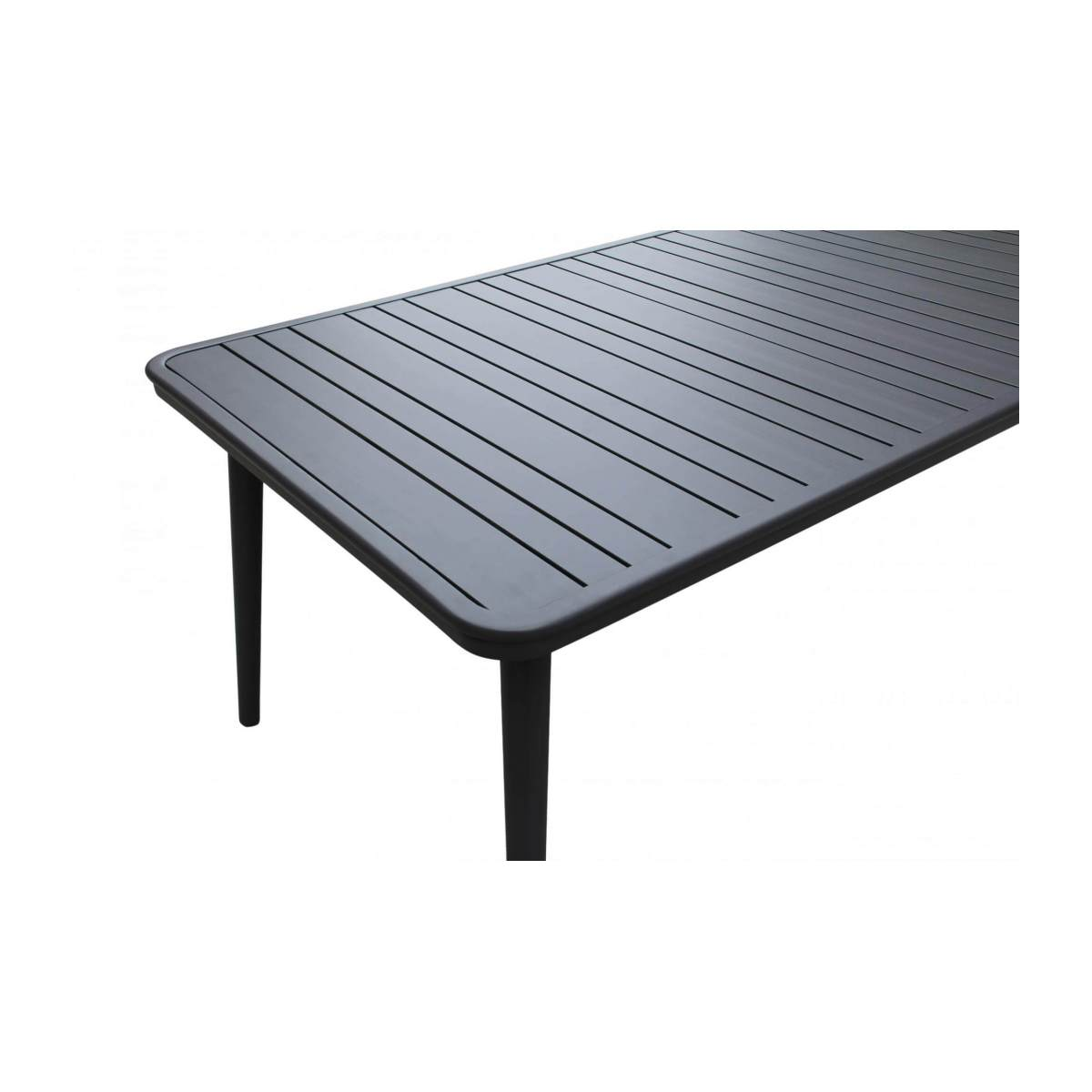 Table de jardin en aluminium - Anthracite poudré n°6