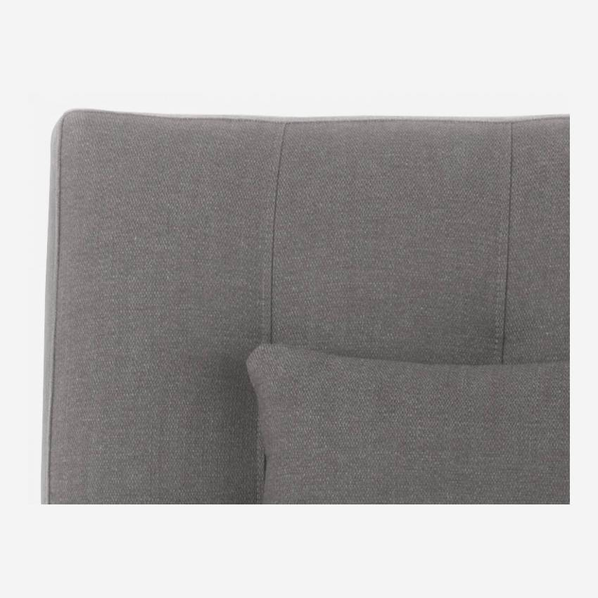 Chaiselongue aus Stoff - Grau