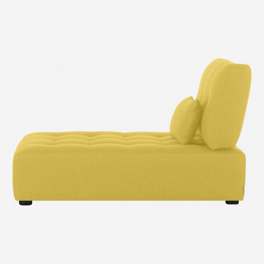Fabric chaise longue unit