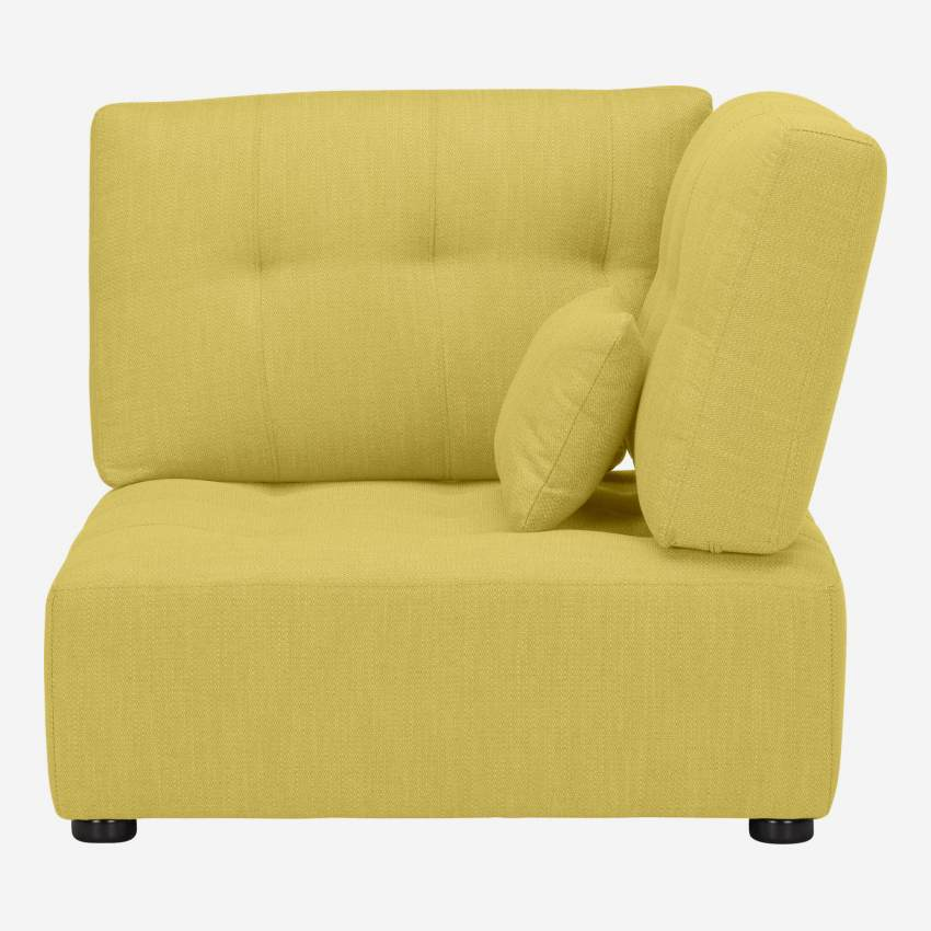 Fabric left corner chair unit