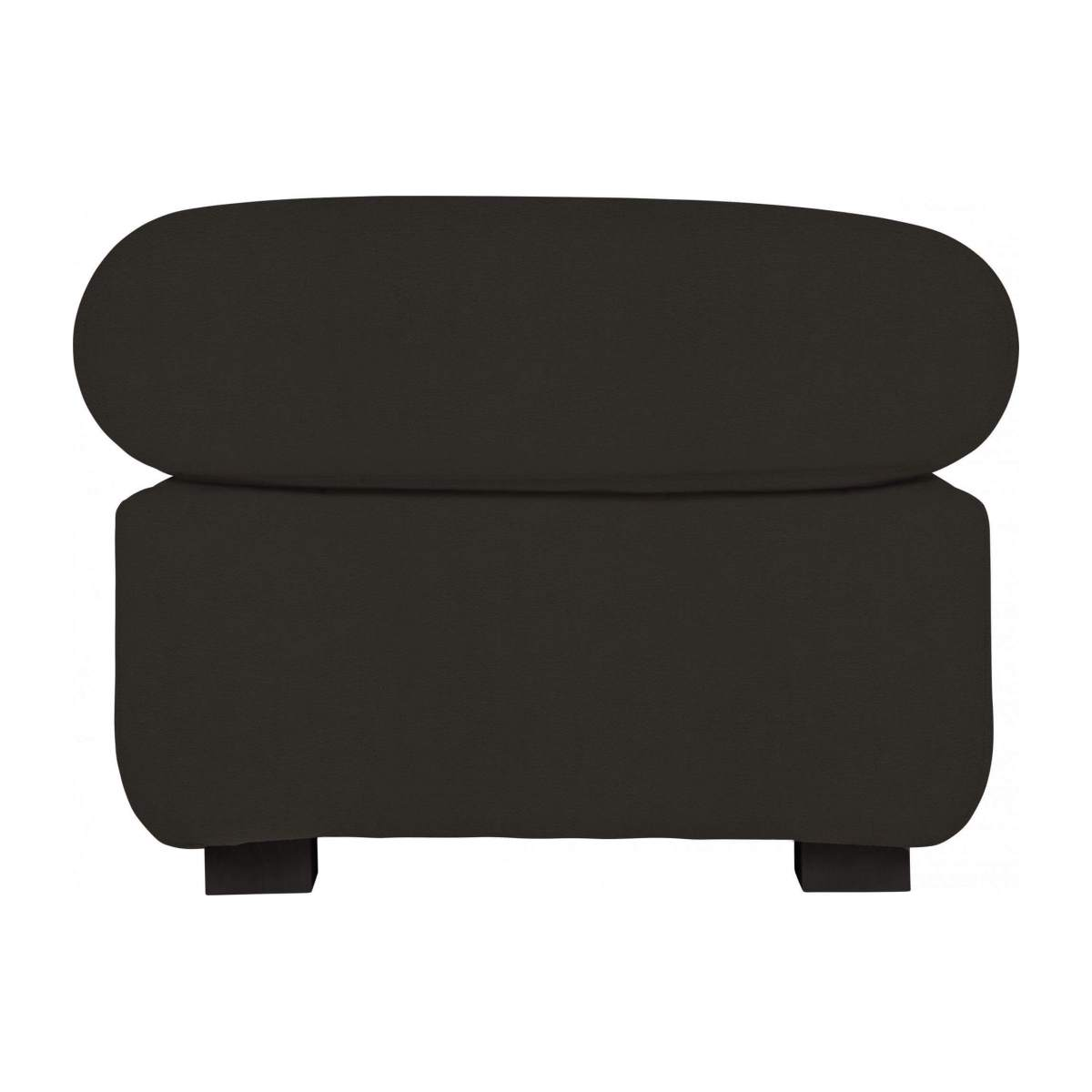 Leather footstool n°4