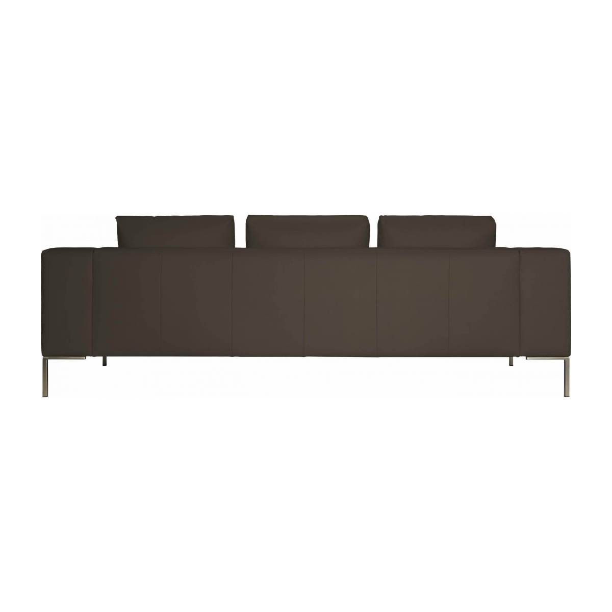 3 seater sofa in Eton veined leather, stone n°4