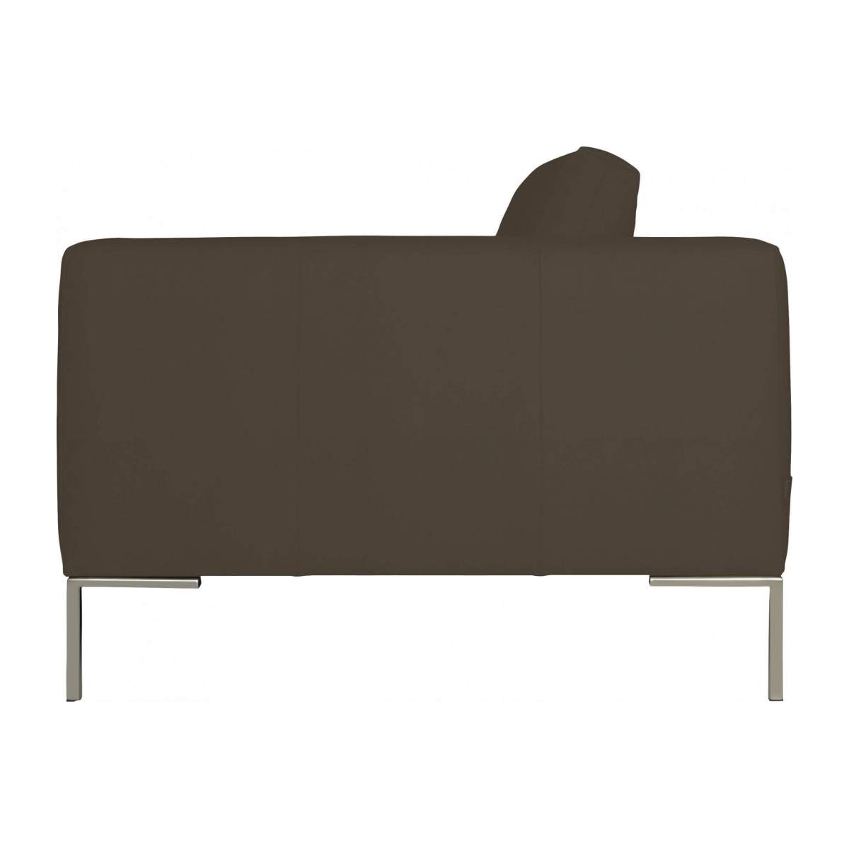 3 seater sofa in Eton veined leather, stone n°5