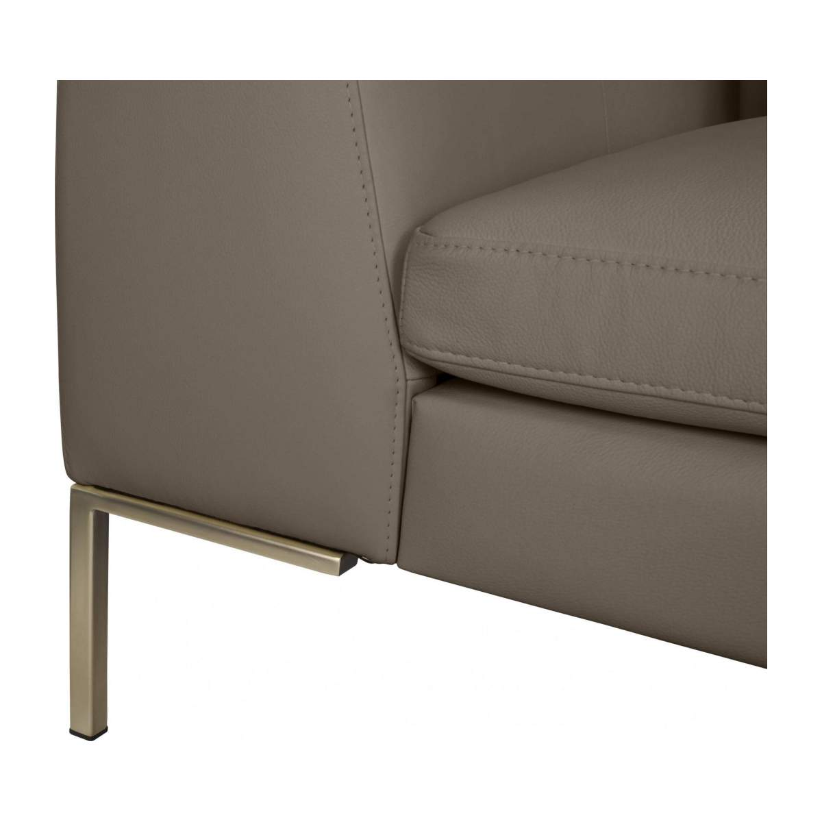 3 seater sofa in Eton veined leather, stone n°7