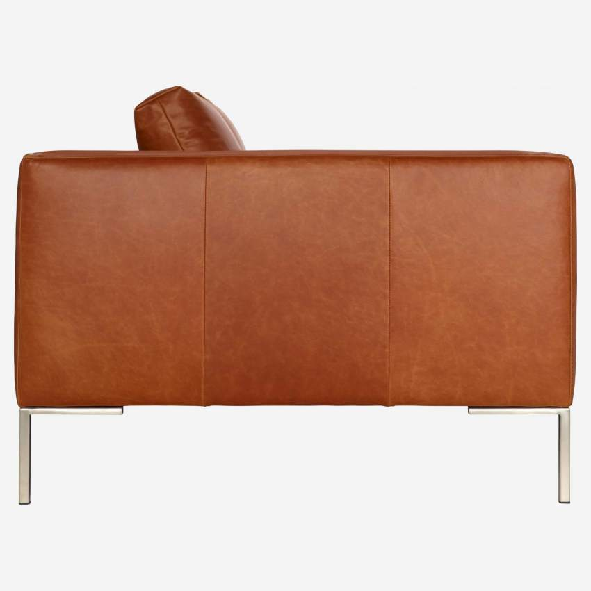 2 seater sofa in Vintage aniline leather, old chestnut