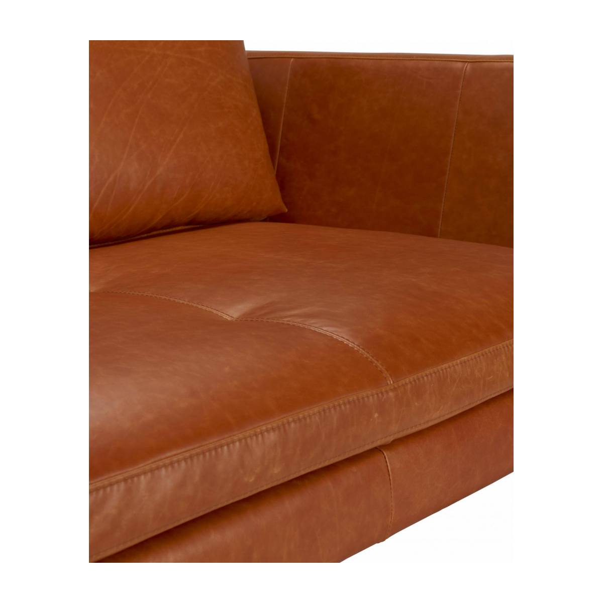 2 seater sofa in Vintage aniline leather, old chestnut n°9