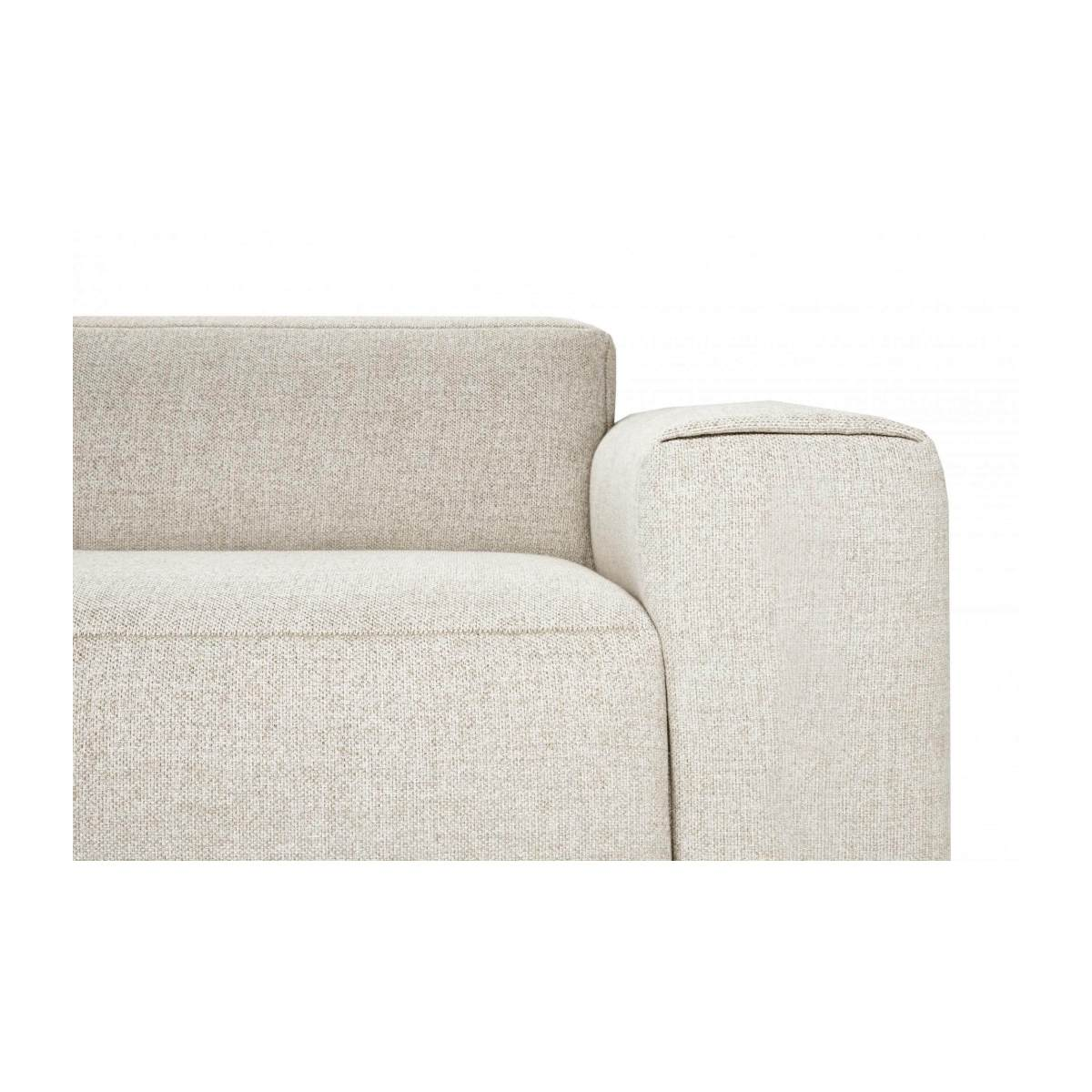 4 seater sofa in Lecce fabric, nature n°5
