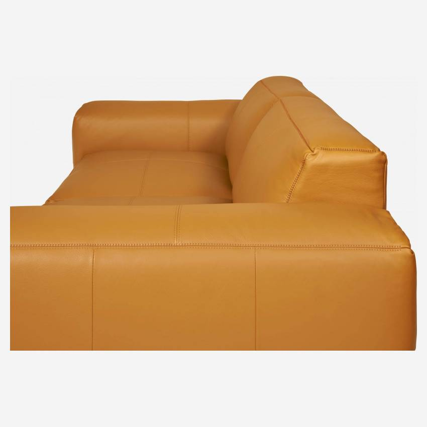 3 seater sofa in Savoy semi-aniline leather, cognac