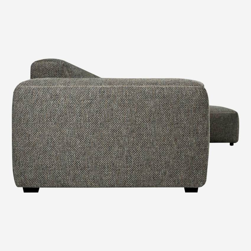 3-Sitzer Sofa mit Chaiselongue rechts aus Stoff Bellagio night black