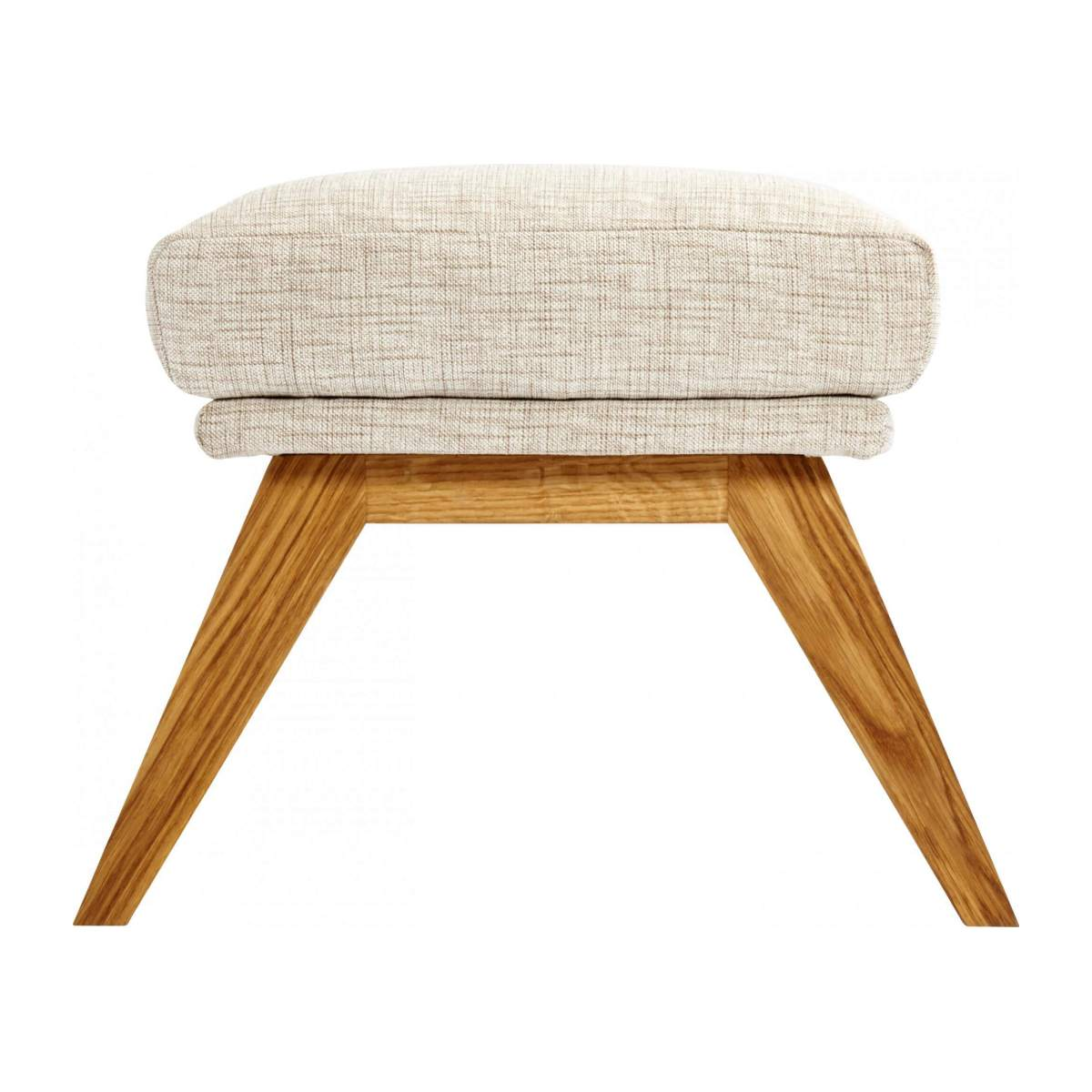 Footstool in Ancio fabric, nature with oak legs n°4