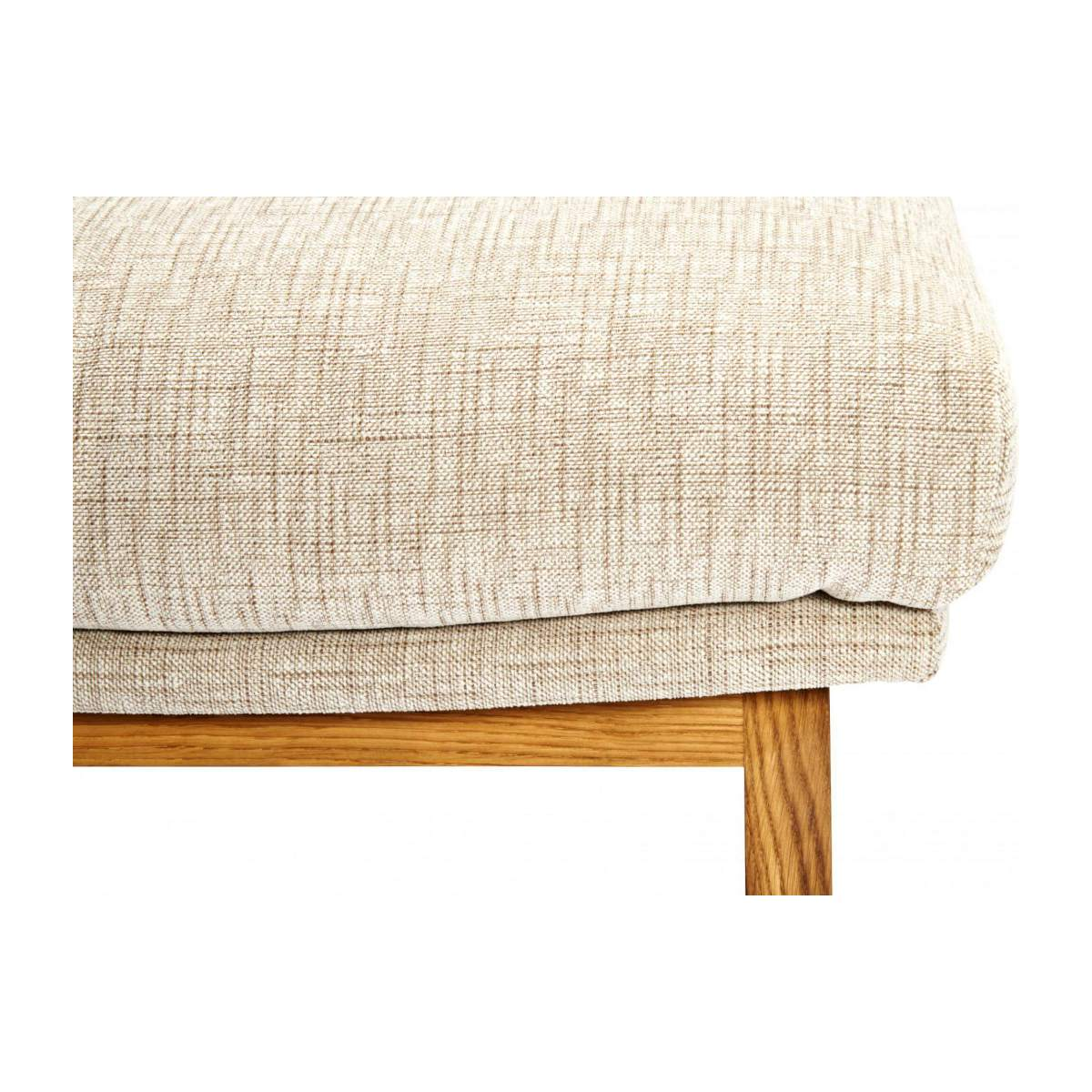Footstool in Ancio fabric, nature with oak legs n°6