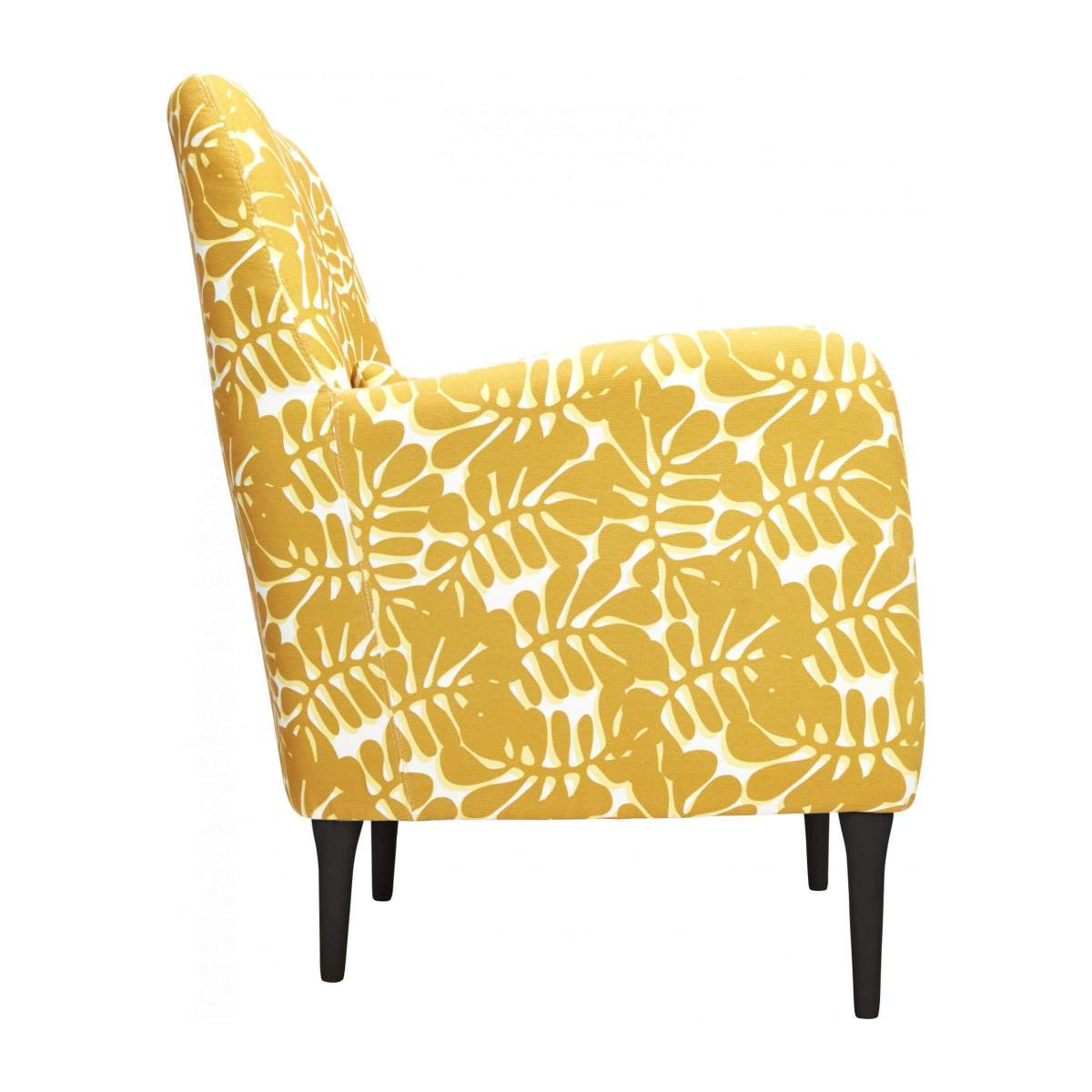 Armchair with yellow patterns n°4