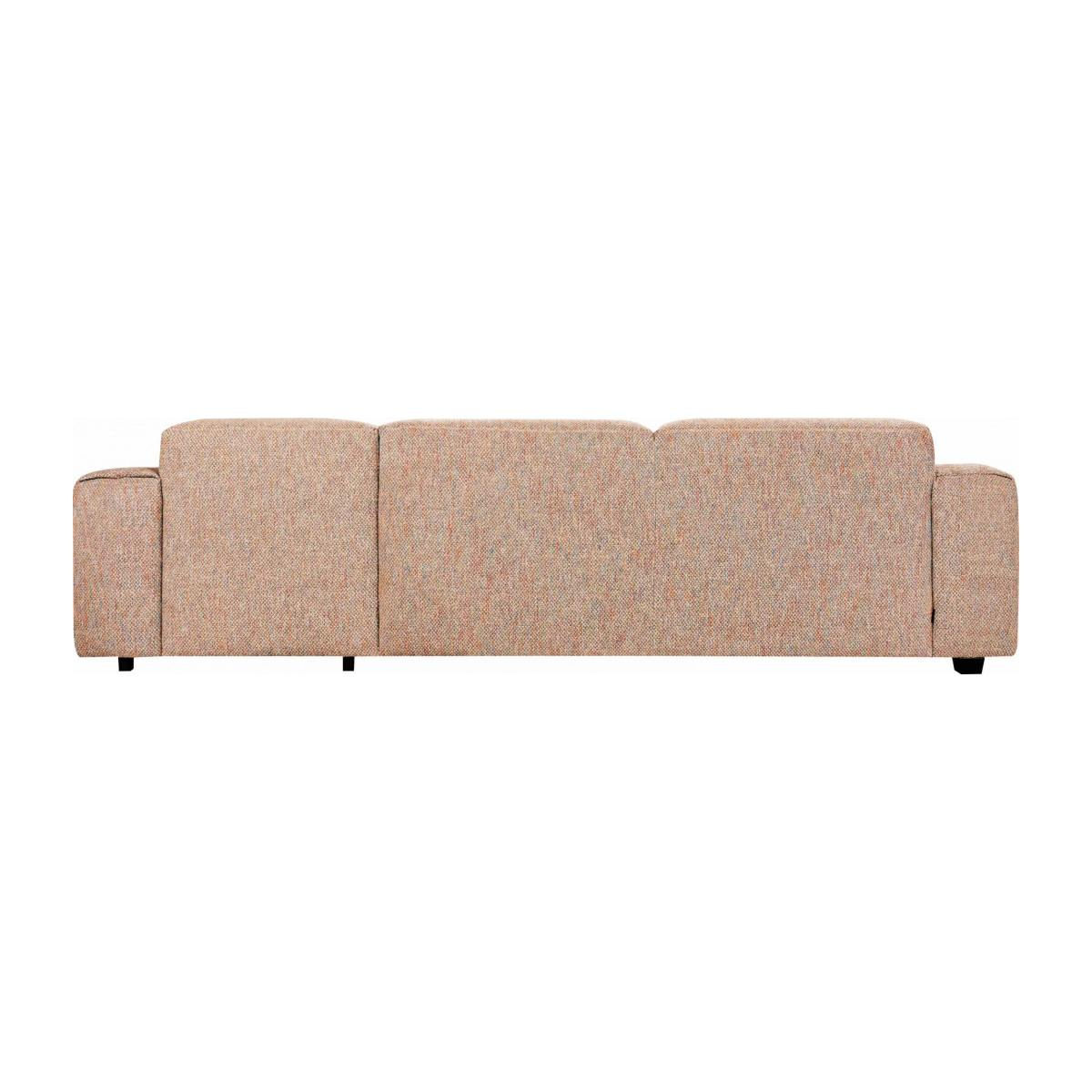 3 seater sofa with right chaise longue in Bellagio fabric, passion orange n°5
