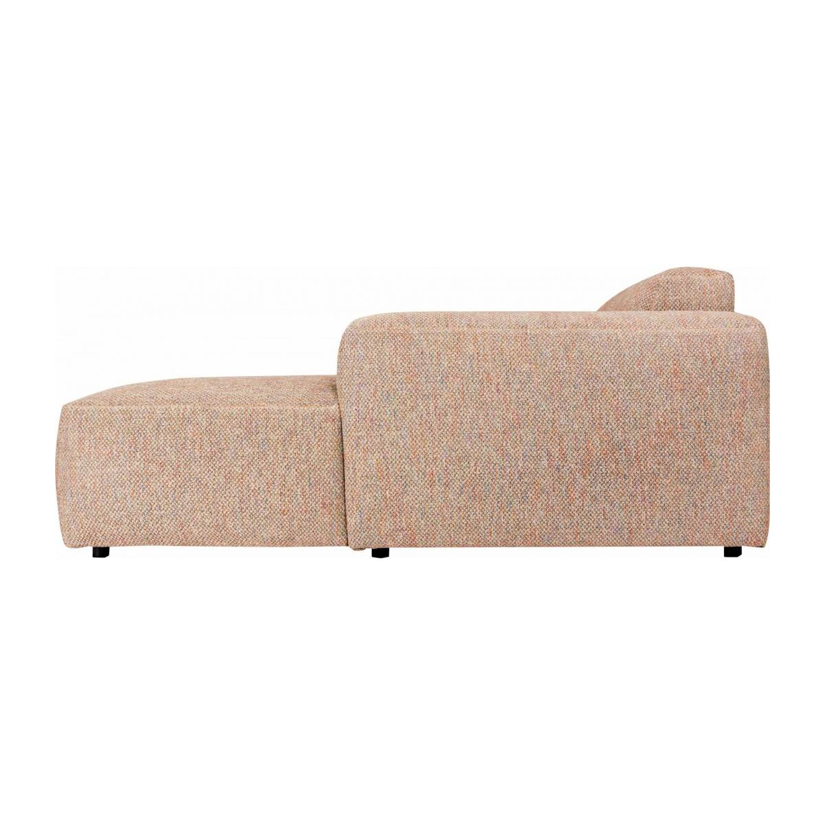 3 seater sofa with right chaise longue in Bellagio fabric, passion orange n°6