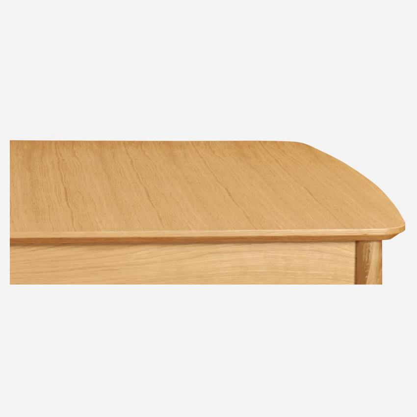 Extensible dining table made of ash