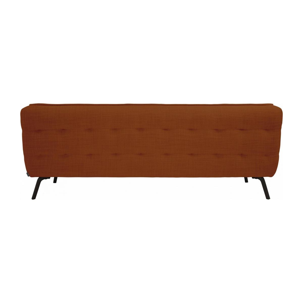 3 seater sofa in Fasoli fabric, warm red rock and dark legs n°3