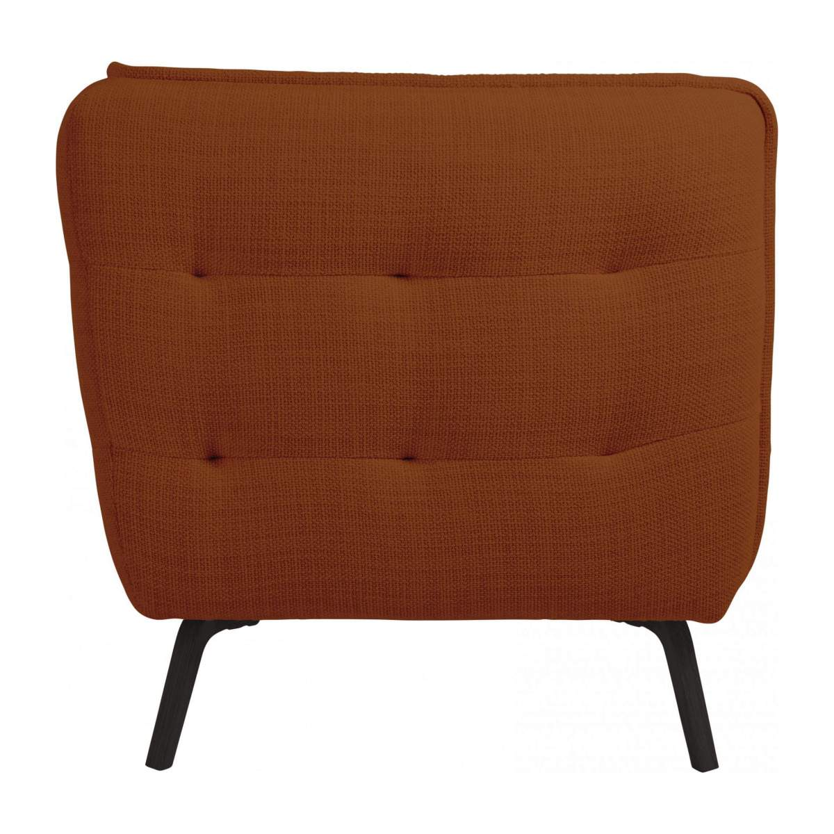 3 seater sofa in Fasoli fabric, warm red rock and dark legs n°4