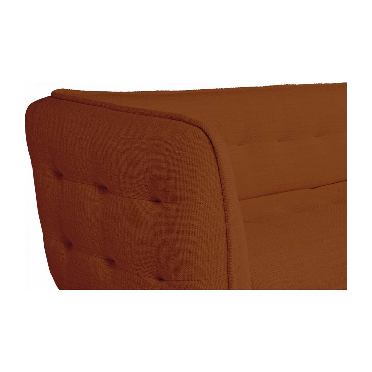 3 seater sofa in Fasoli fabric, warm red rock and dark legs n°5