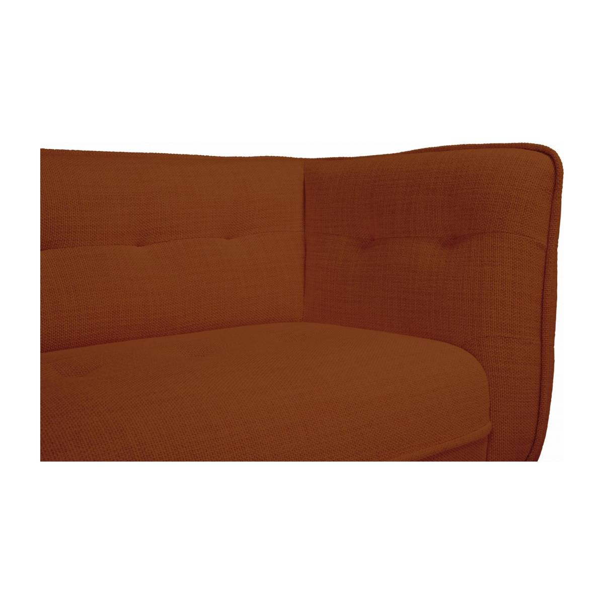 3 seater sofa in Fasoli fabric, warm red rock and dark legs n°6