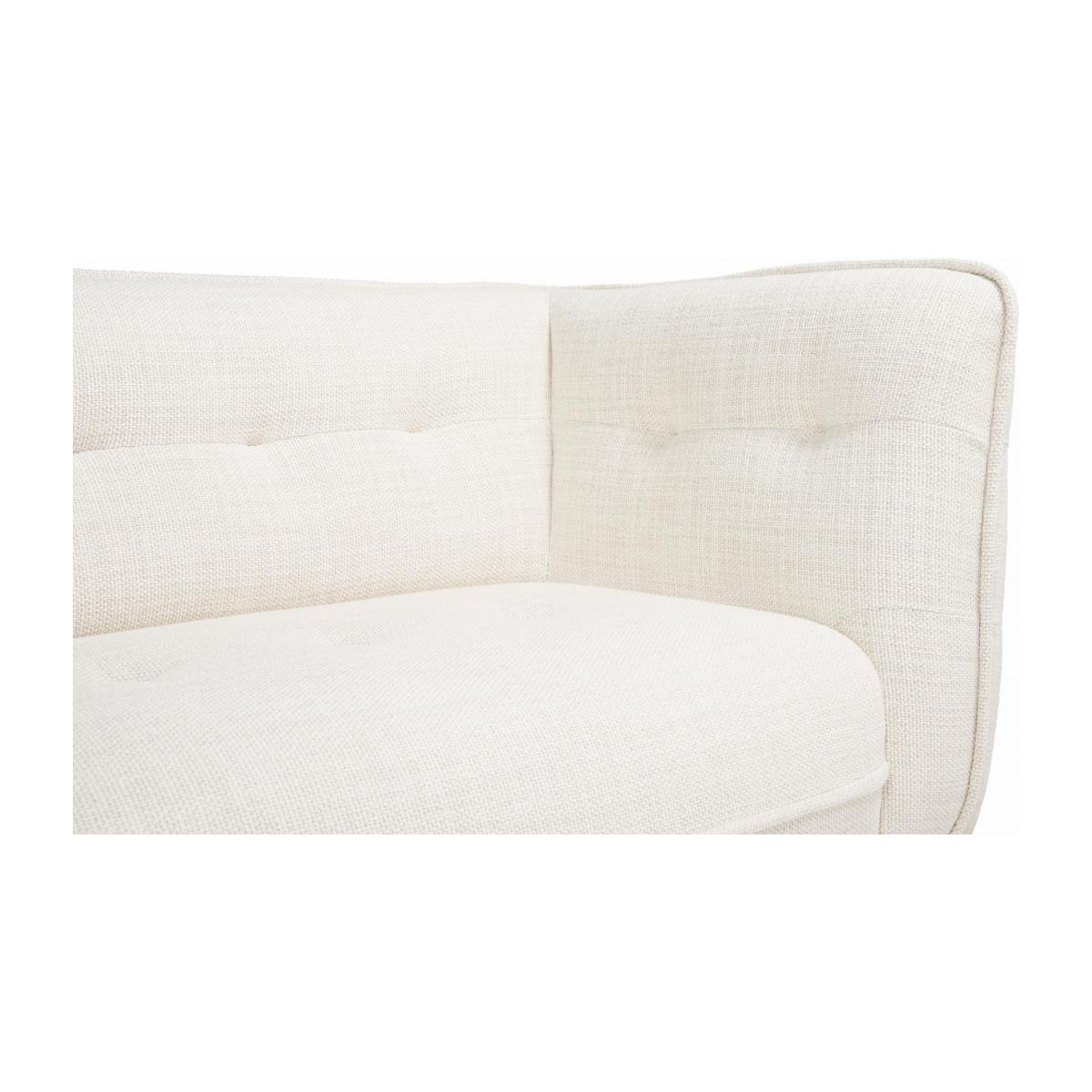 3 seater sofa in Fasoli fabric, snow white and oak legs n°6