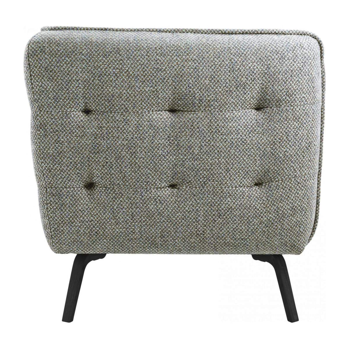 3 seater sofa in Bellagio fabric, organic green and dark legs n°4