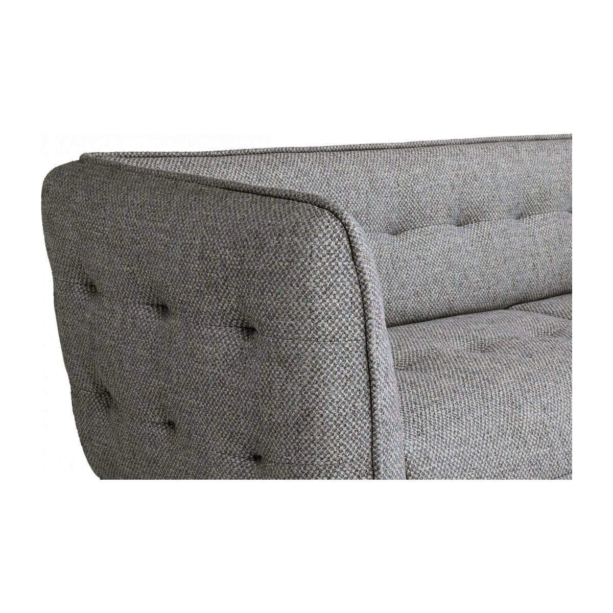 3 seater sofa in Bellagio fabric, night black and oak legs n°5