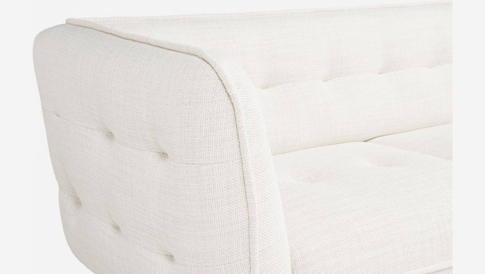 2 seater sofa in Fasoli fabric, snow white and dark legs