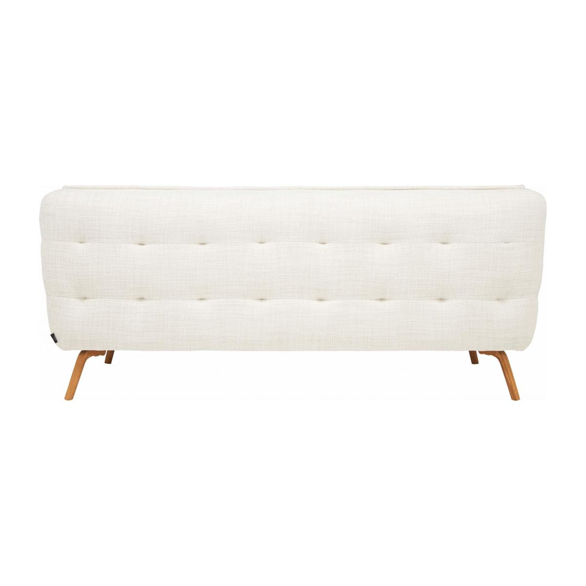 2 seater sofa in Fasoli fabric, snow white and oak legs n°3