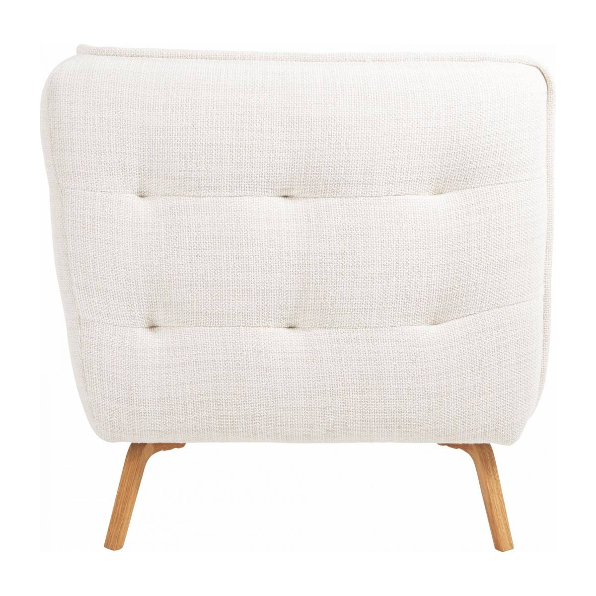 2 seater sofa in Fasoli fabric, snow white and oak legs n°4