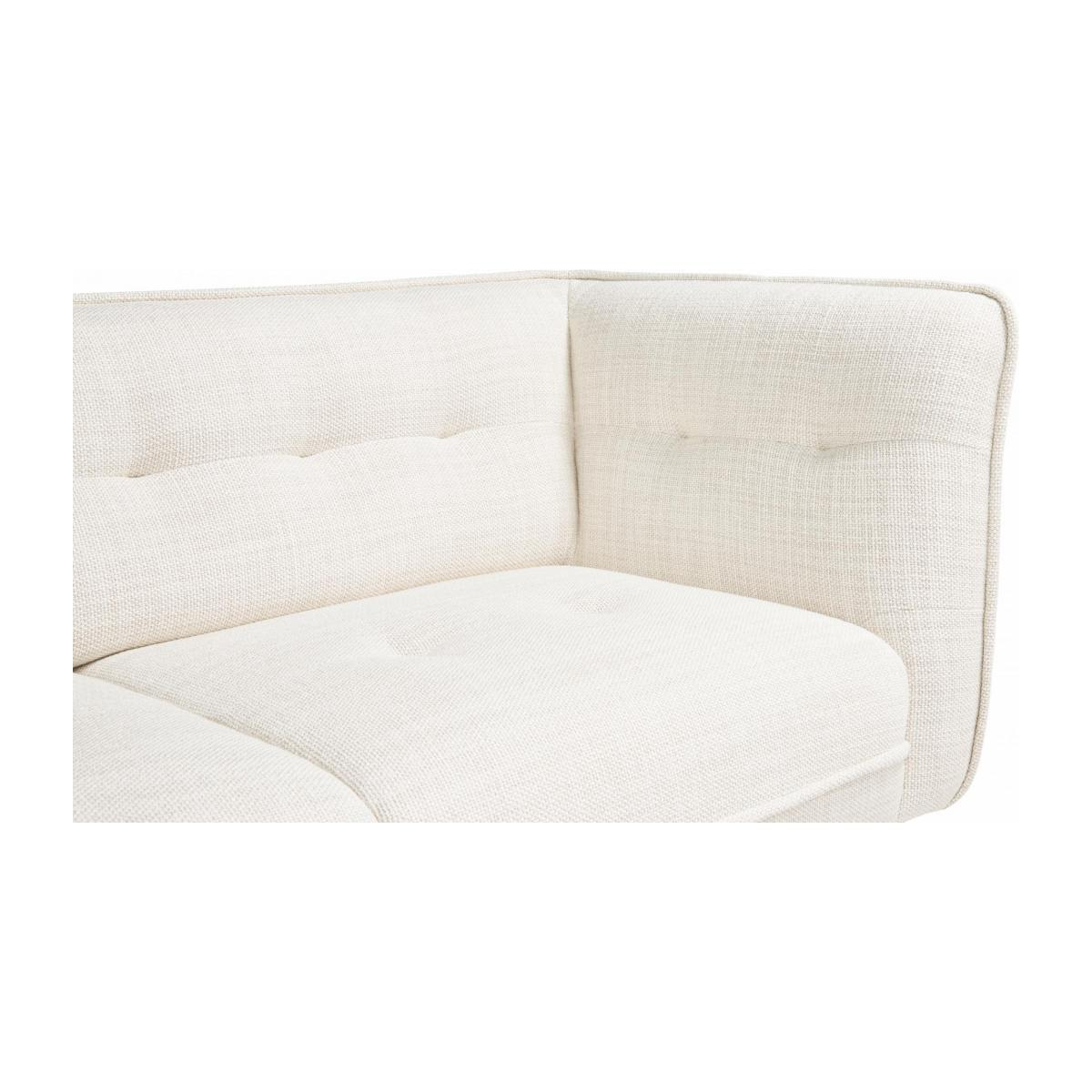 2 seater sofa in Fasoli fabric, snow white and oak legs n°6