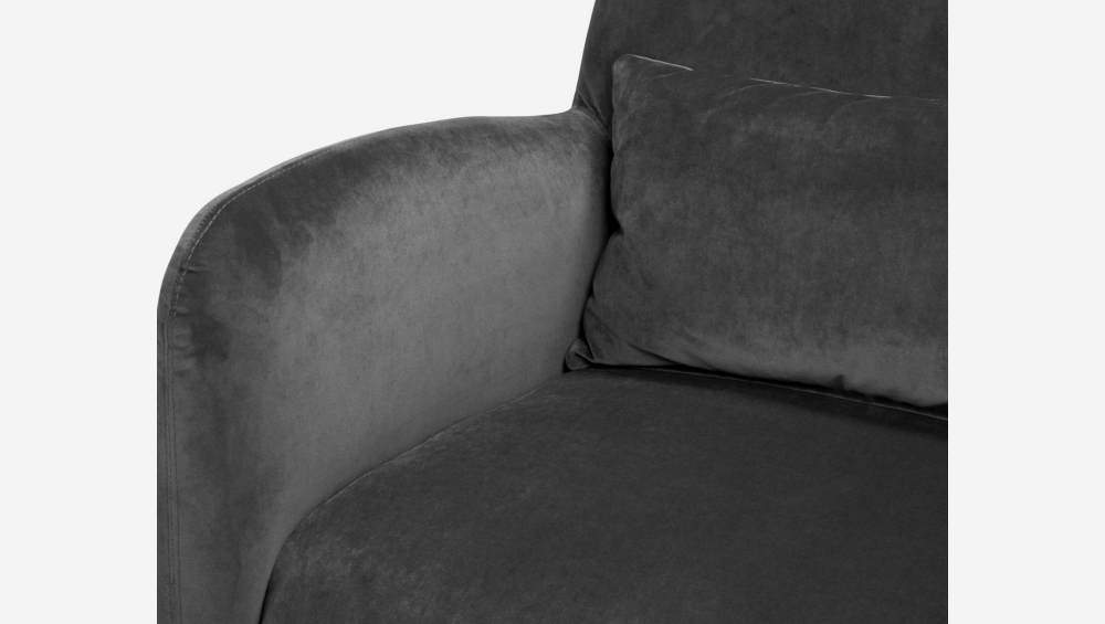 Velvet armchair, grey