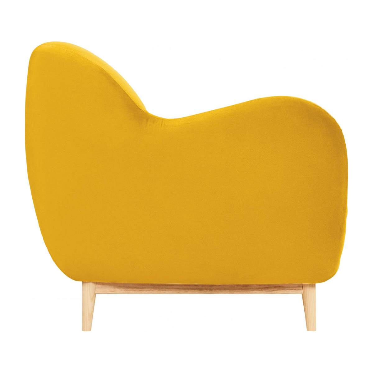 2-seat sofa made of velvet moutarde  n°4