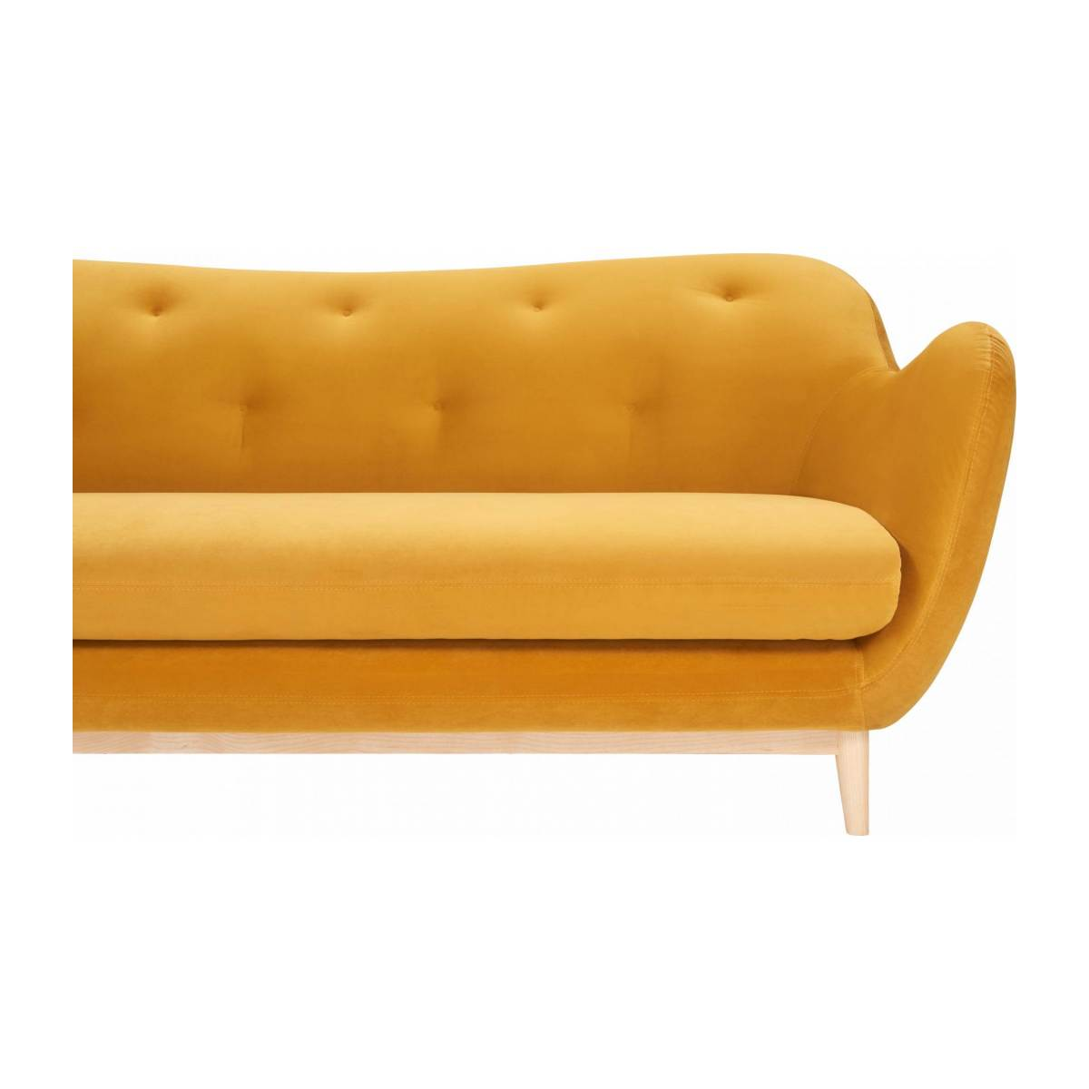 2-seat sofa made of velvet moutarde  n°5