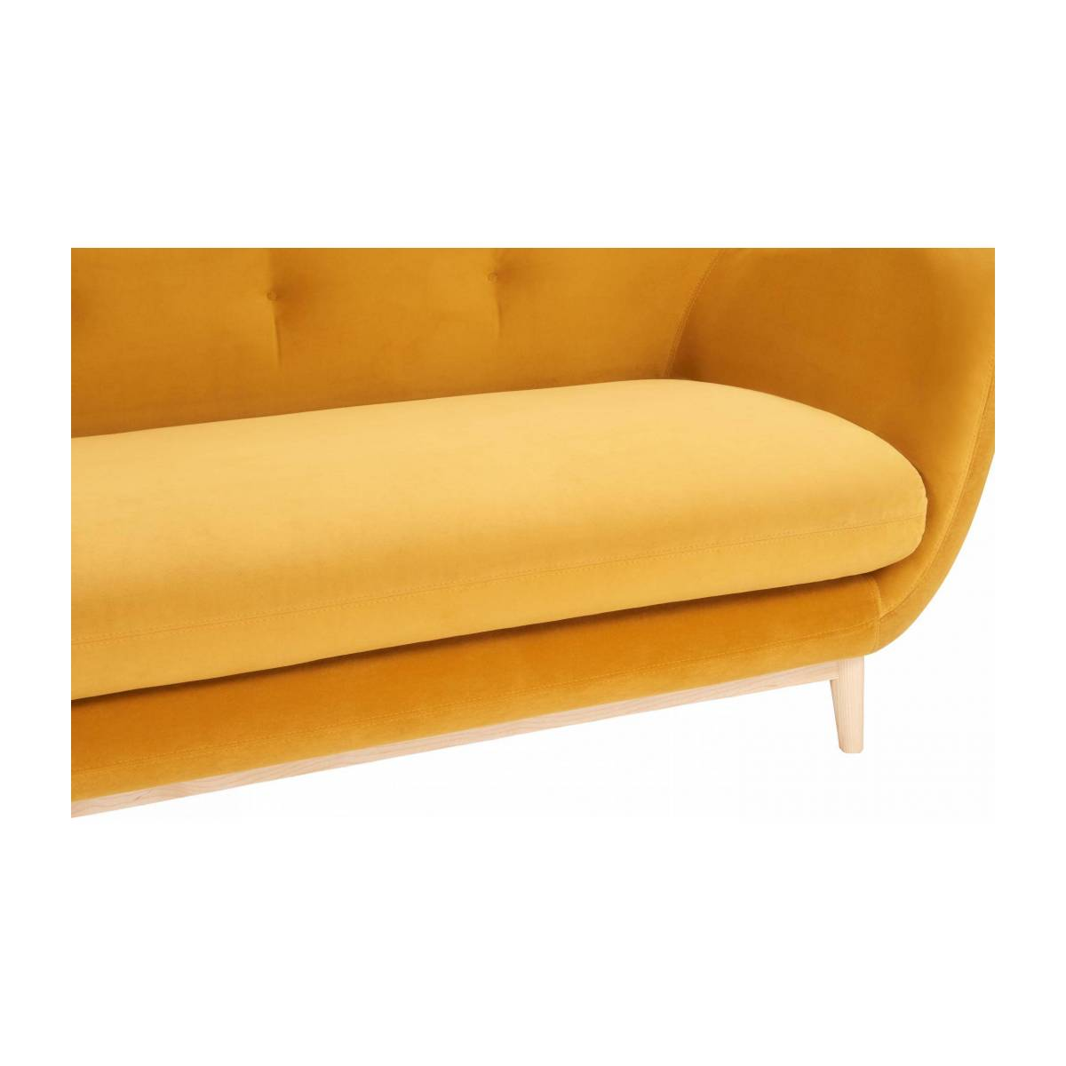 2-seat sofa made of velvet moutarde  n°6