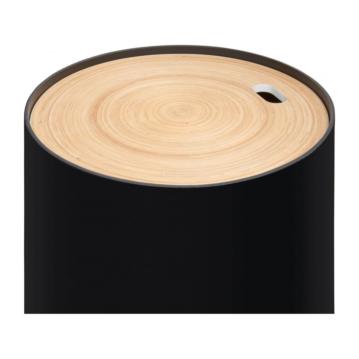 Black bamboo side table 40cm n°5