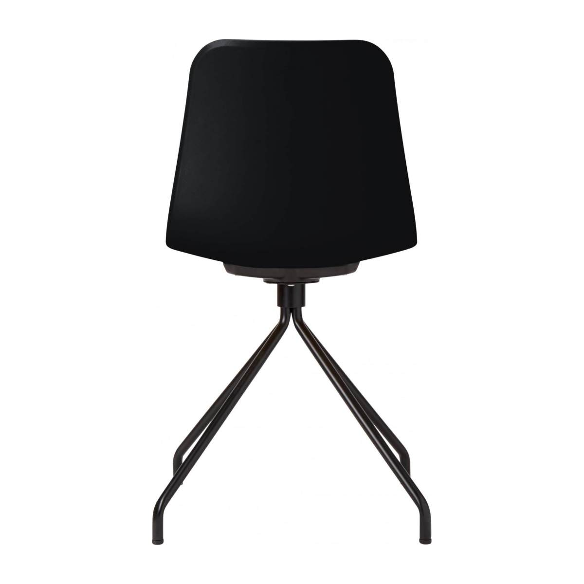 Black chair in polypropylene and lacquered steel legs n°3