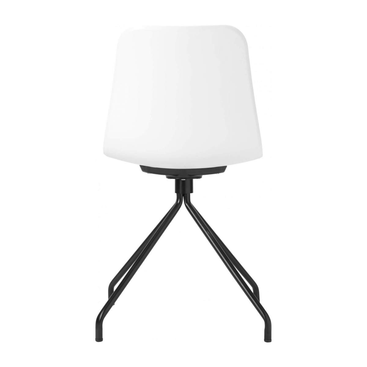 White chair in polypropylene and lacquered steel legs n°3