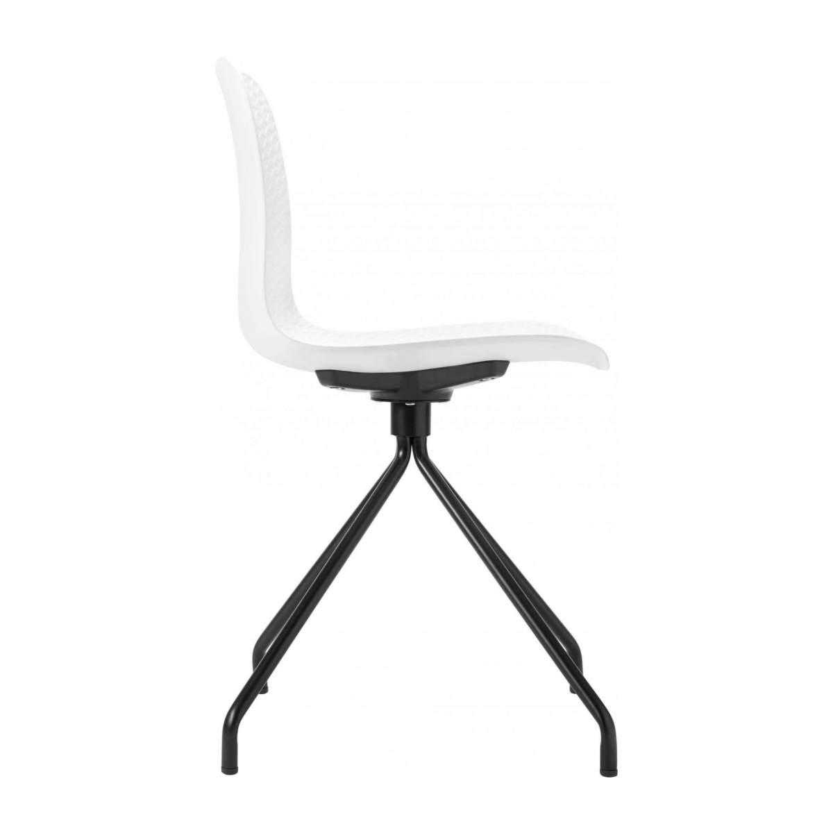 White chair in polypropylene and lacquered steel legs n°4