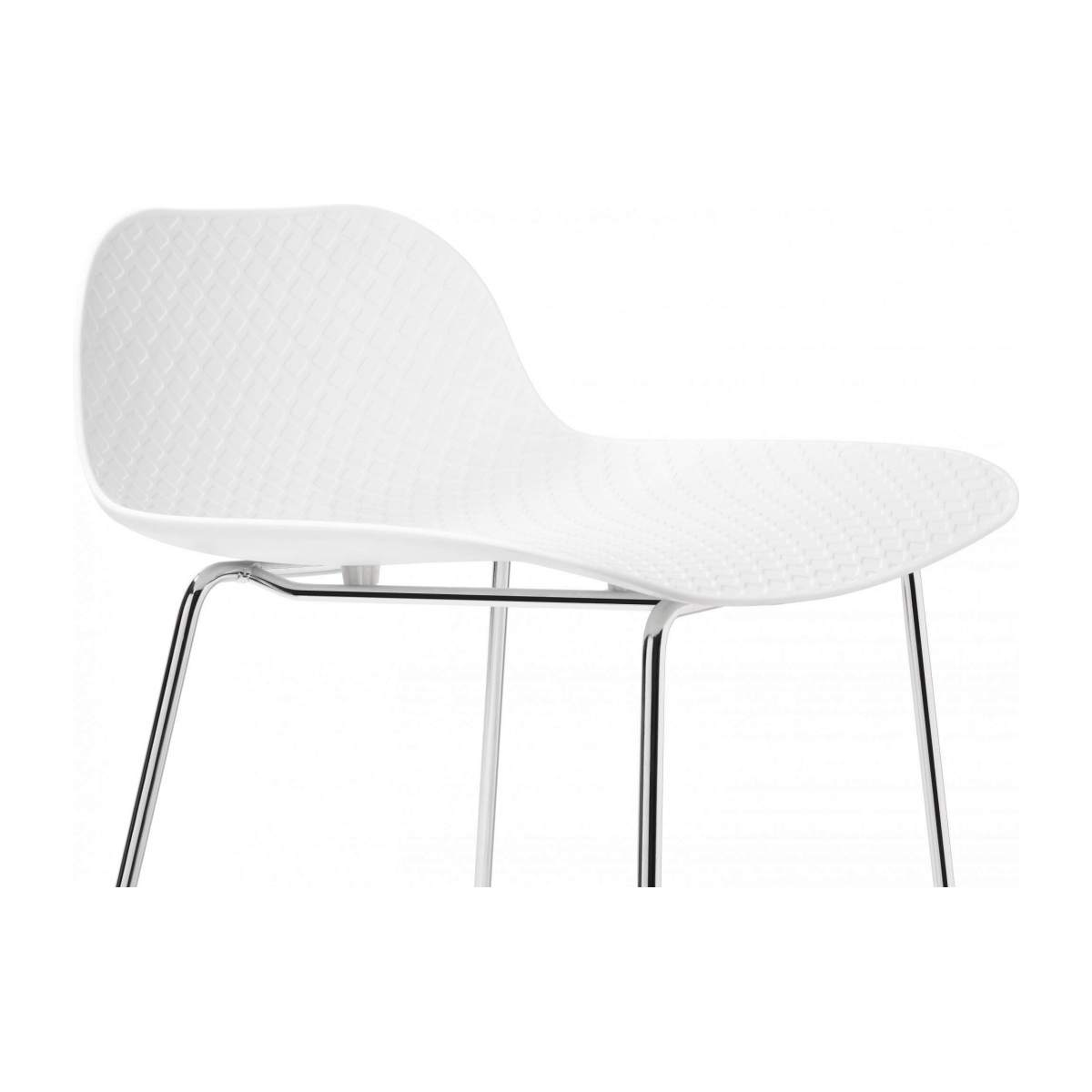 White high stool in polypropylene and lacquered steel legs n°5