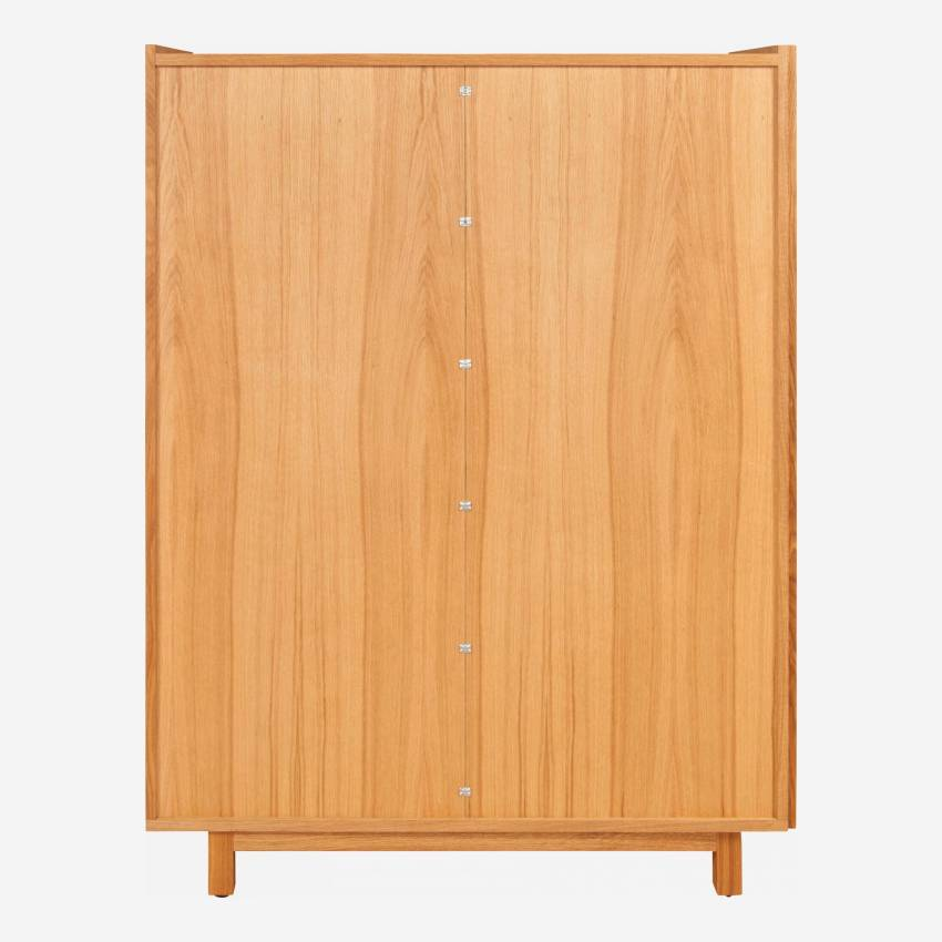 2 doors oak high storage