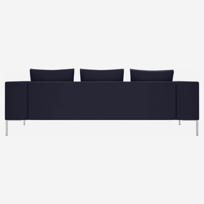 3 seater sofa in Super Velvet fabric, dark blue