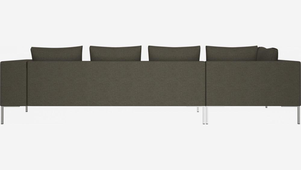 3 seater sofa with chaise longue on the left in Lecce fabric, slade grey